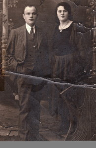 Morris and Esther at time of wedding, abt. 1921